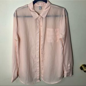 Old Navy Sheer Button Up